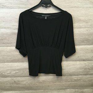WHBM Women's XS Black Wide Waistband Kimono Top